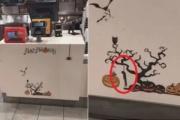【McDonald's】店内のハロウィーン飾りに首吊り採用で炎上
