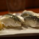新子と海老で一杯・・・寿司「かわしま」浅間台