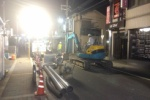 汚水管の入れ替え工事やっててだいたい夜10時くらいから通行止めになってる~交野市駅→交野市役所の手前の区間~