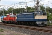 『2014/6/27運転 EF65-501+DD51-888配給』の画像