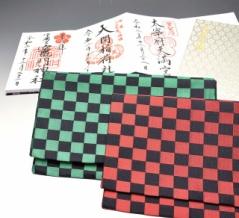 「疫滅の博多織・御朱印帳入れ」 販売開始。現代を代表する伝統工芸士の松本茂記さんが、話題の和柄「市松模様」を手織り。