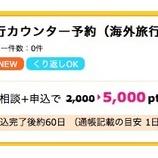 『これはビックリ。旅行会社のカウンターでパッケージツアーを予約すると無条件で5,000円もらえます。』の画像