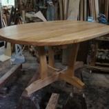 『タモのテーブル・ワンちゃんの絵』の画像