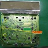 『スズキ ワゴンRのエアコンパネルのLED交換(LED打ち替え)のはんだ修正と回路修復』の画像