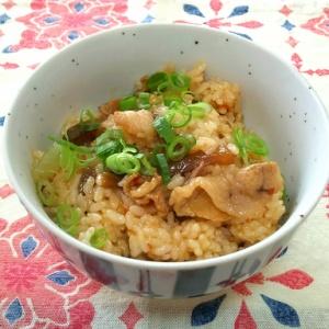 ザーサイと豚肉の混ぜご飯