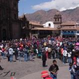 『ペルー旅行記9 クスコのアルマス広場で大々的なイベント、そしてアルパカ製品を』の画像