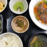 『今日の桜町昼食(肉団子あんかけ)』の画像