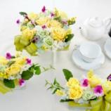 『春らしいパステルの幸せ色で装うテーブルフラワー』の画像