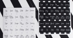スクエア型でスタイリッシュになった!可愛い筆記体フォントが魅力のラベルステッカー キッチン(#10)キャンドゥ×LOVEHOMEコラボ 第4弾