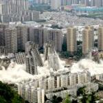 【動画】中国、未完成の高層マンション15棟を一斉に爆破解体!その瞬間~!