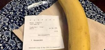 【イギリス】アプリを通して注文できるパブで何者がか黒人男性の席にバナナを送りつけ男性が人種差別だと警察に通報