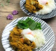 【レシピ】すりおろし野菜入り栄養満点ひき肉カレー