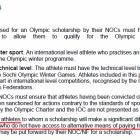 『ソチオリンピックソリダリティ奨学金③ 虚偽の申請?』の画像