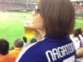 【画像】眞鍋かをりがサッカーのユニ着て巨人戦観戦してるwwwwwwww