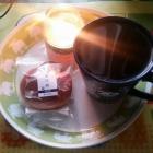 『(´・ω・`)栗月餅で飲茶』の画像