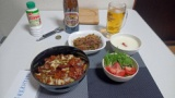 仕事から帰ってきたから回鍋肉丼と青椒肉絲と杏仁豆腐作ったぞ(※画像あり)