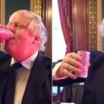 【英国】保守党大勝!ここで福島の桃ジュースを飲むジョンソン首相を見てみましょう。 [海外]
