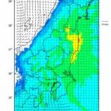 『5月10日に公開されたWSPEEDIの放射能汚染分布予測結果の範囲に戸田市も含まれていました』の画像