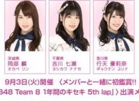9/3 メンバーと一緒に鑑賞!「Team 8 1年間のキセキ 5th lap」初上映イベント開催!