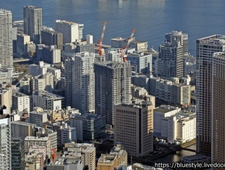 地上32階「ブランズタワー芝浦」の建設状況!東京タワーとヘリからも撮影しています(2021.1.16)