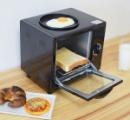 パン焼けた...おっ、目玉焼きもできたぞ これは便利「おひとり様」トースター