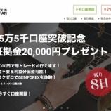 『2020年1月18日0時からGemForex(ゲムフォレックス)が、1日間限定で新規に口座開設するだけで20,000円ボーナスキャンペーン開催中!』の画像