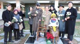 【韓国】ワシントンの少女像と共に「日本商品不買」を叫ぶ