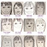 『【乃木坂46】新内眞衣が3期生全員の似顔絵を描いた結果wwwww』の画像