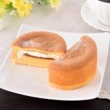 『【ファミマ:スイーツ】パンケーキにプリン入れちゃいました』の画像