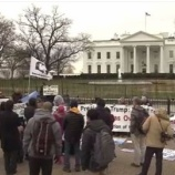 『辺野古停止署名19万5000超、ホワイトハウス前で請願』の画像