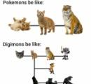 【悲報】ポケモンとデジモンの進化の違いがひと目でわかる画像がこちら……