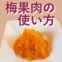 梅果肉の使い方