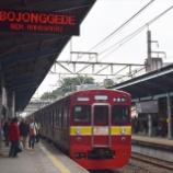 『脱線事故によるボゴール線の運転状況(3月11日)』の画像