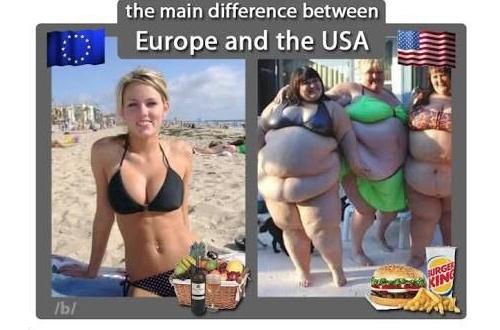 【衝撃】アメリカ女とヨーロッパ女の比較画像がヤバイとワイの中で話題にwwwwwwのサムネイル画像