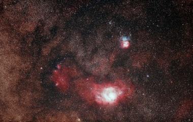 『猫の手星雲&干潟星雲&三裂星雲コラボ』の画像