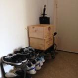 『デッドスペースに合わせた靴箱』の画像