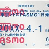 『東京メトロ 「東京メトロPASMO1 日乗車券」を発売します!【2017年4月1日~】』の画像