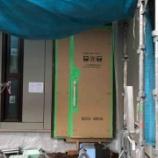 『玄関扉の設置と1階シャッター【着工55日目】』の画像