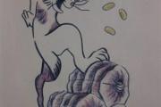 【富田林逃走】このウサギにご用心 逃走容疑者、ふくらはぎに入れ墨