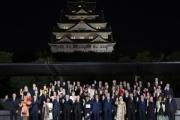 【G20】文在寅さん、大阪城バックの記念撮影に参加