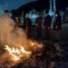 伊奈波神社の左義長