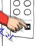 """エレベーター""""開"""" ボタン、押す?"""