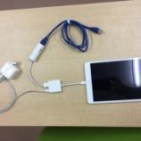 『展示会でWi-Fi接続が不安定でiPhoneやiPadのデモができずにお困りの皆さん、安心して下さい。有線接続ですよ。』の画像