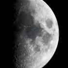 『上弦の月(月齢7.7)』の画像