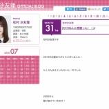 『【乃木坂46】松村沙友理、今年に入ってブログ更新なし・・・』の画像