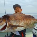 『7月11日 釣果 スーパーライトジギング マダイ81センチ7キロ』の画像