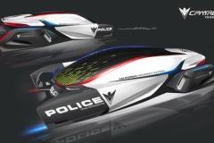 「2025年のパトロールカー」デザインコンテスト、BMW、GM、ホンダ、メルセデスらが参加