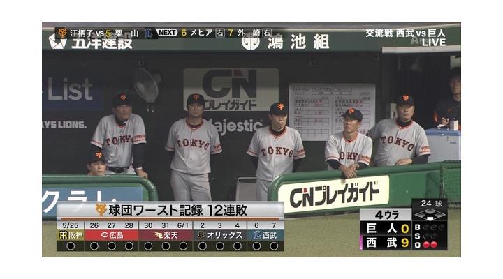 巨人・小林誠司さん、13連敗の責任を取り晒し首になる【 ネタ画像 】
