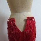 『ベリーダンス衣装 ウエストサイズの小さいスカート、付属品利用で布地足しサイズアップ!』の画像
