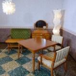 『【6帖空間にお勧めクラシックスタイルのLDセット】ダニエル・座善ワンアームチェアをシーザーテーブル100にセット』の画像